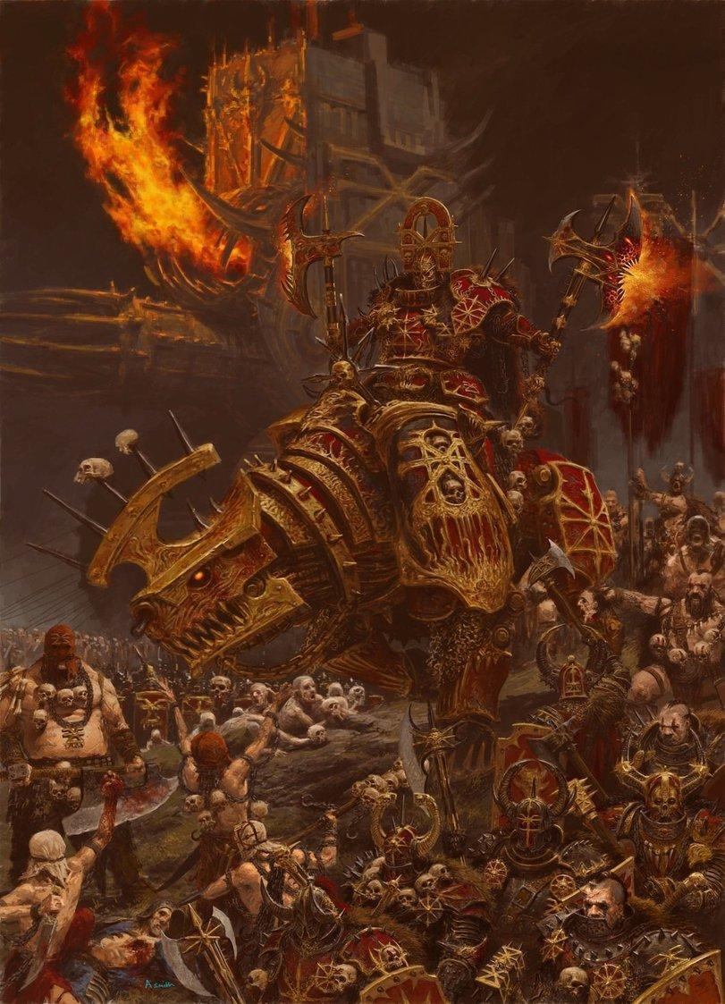 Арт Мрачные картинки Warhammer Кхорн Кровь и пафос