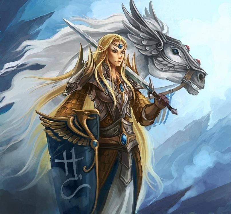 Красивые картинки Арт Warhammer Fantasy Высшие эльфы Elves