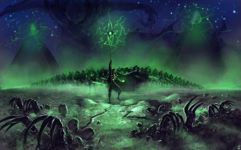 Арт Мрачные картинки Некрон Warhammer