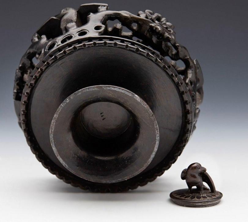 прямые руки Китай Каменная чернильница Чернильница Резьба по камню