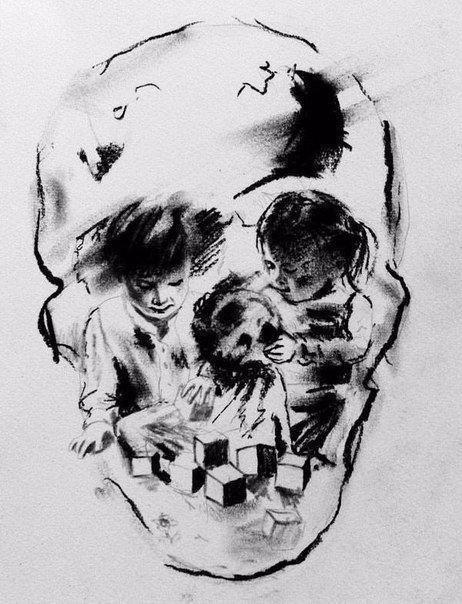Красивые картинки череп рисунок
