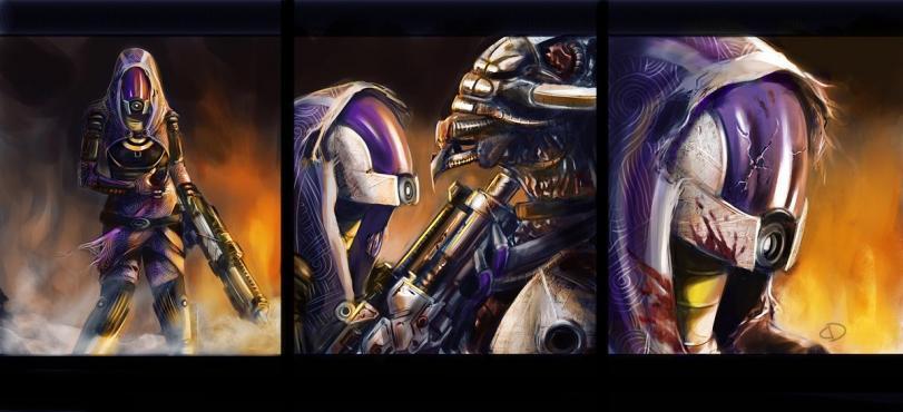 Красивые картинки Арт Sci-fi Mass Effect Tali