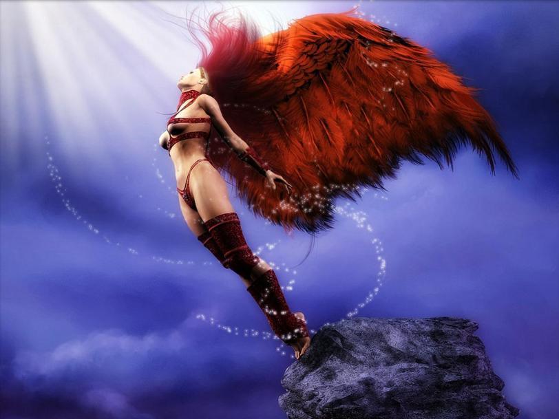 Красивые картинки Арт Девушка Фэнтези ангел