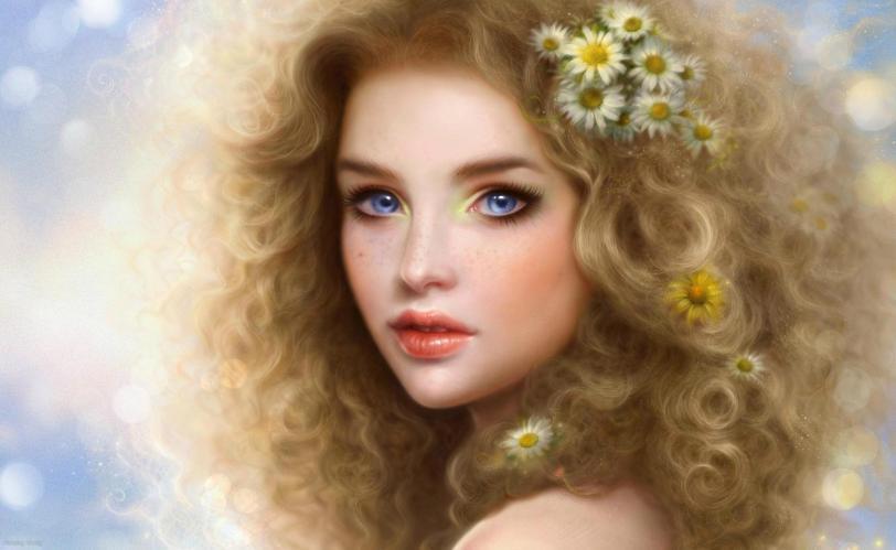 Красивые картинки Арт Девушка няша Красивое лицо