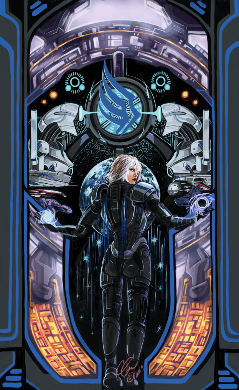 Красивые картинки Арт Sci-fi Mass Effect FemShep