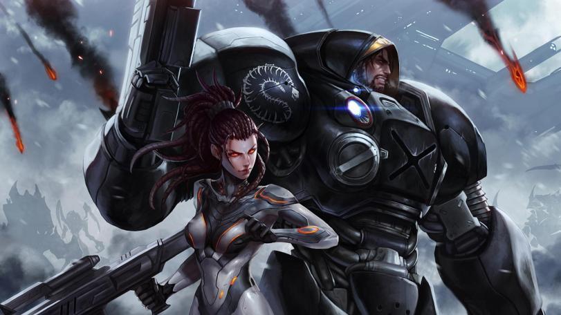 Красивые картинки Арт StarCraft2 Kerrigan James Raynor
