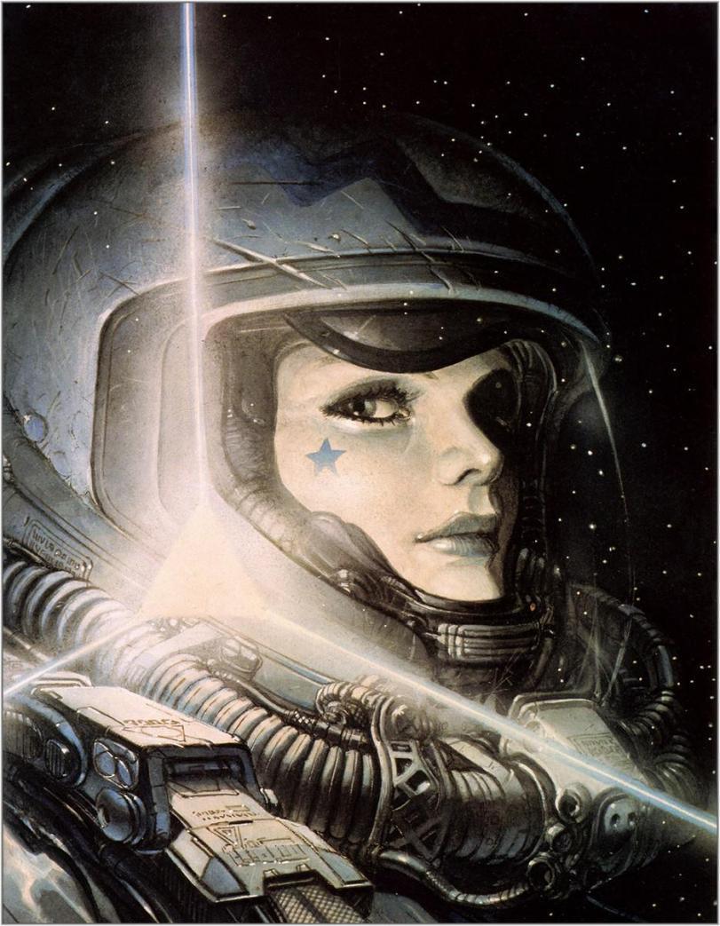 Красивые картинки Арт Sci-fi Космос Девушка