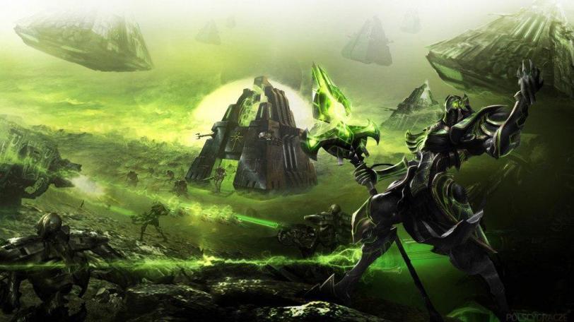 Красивые картинки Арт Warhammer 40K Necrons Некрон Пафос