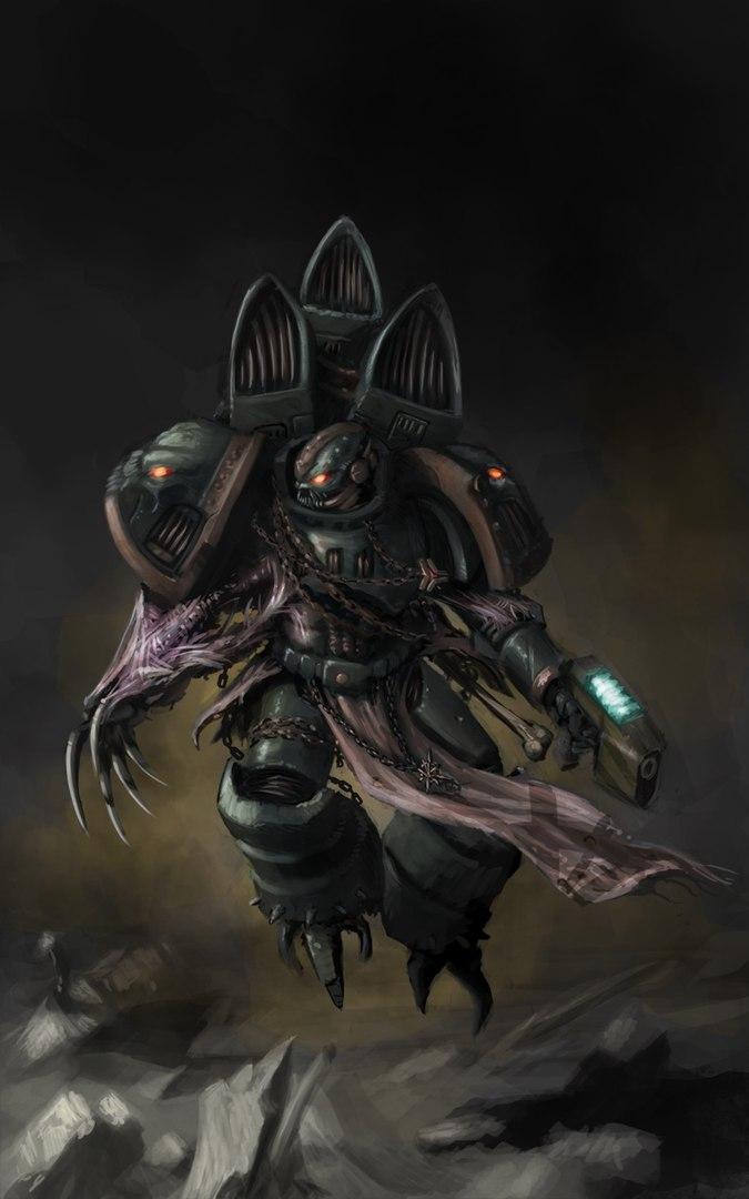 Арт Warhammer 40K Мрачные картинки