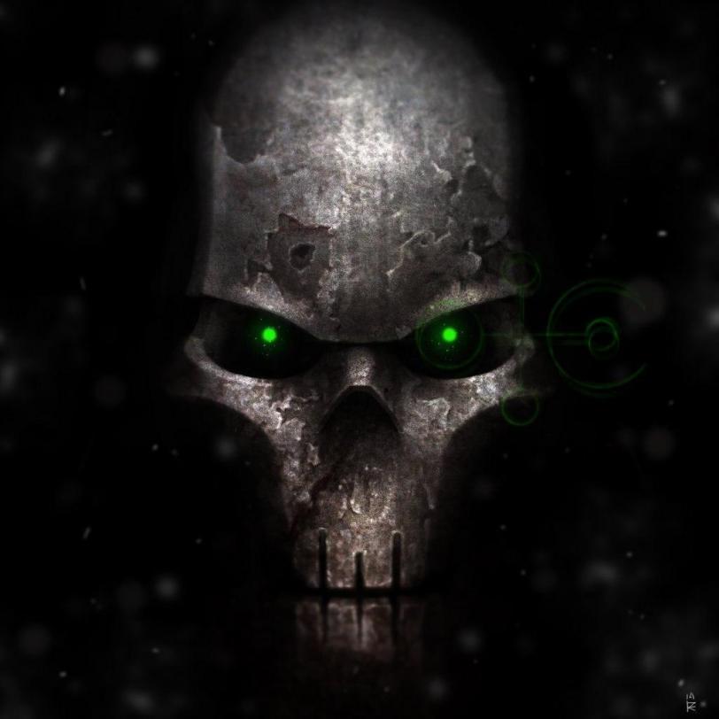 Арт Warhammer 40K Мрачные картинки Necrons Некрон