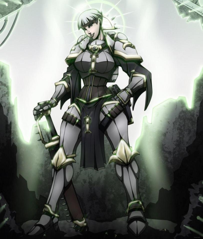 Красивые картинки Арт Девушка Warhammer 40K Сёстры битвы не-канон