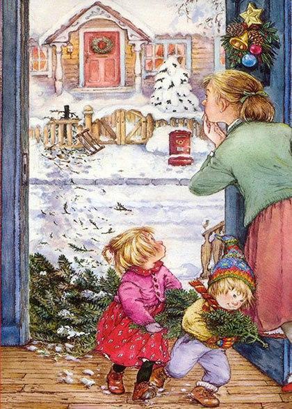 Красивые картинки Арт Милота Рождество Lisi Martin открытки