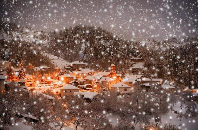 Пейзаж снег уют мороз волшебство