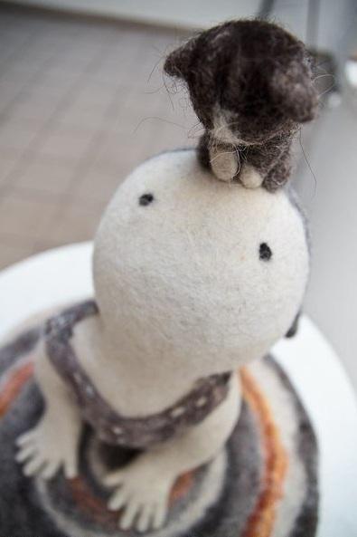 Красивые картинки прямые руки кот Милота Игрушки валяные игрушки девушка и кот