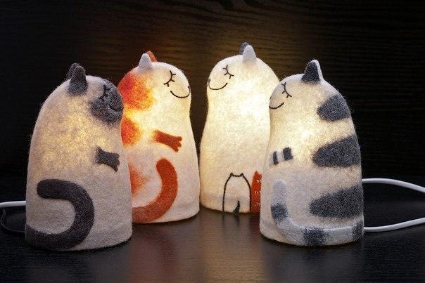 Котэ кот Милота уют светильник