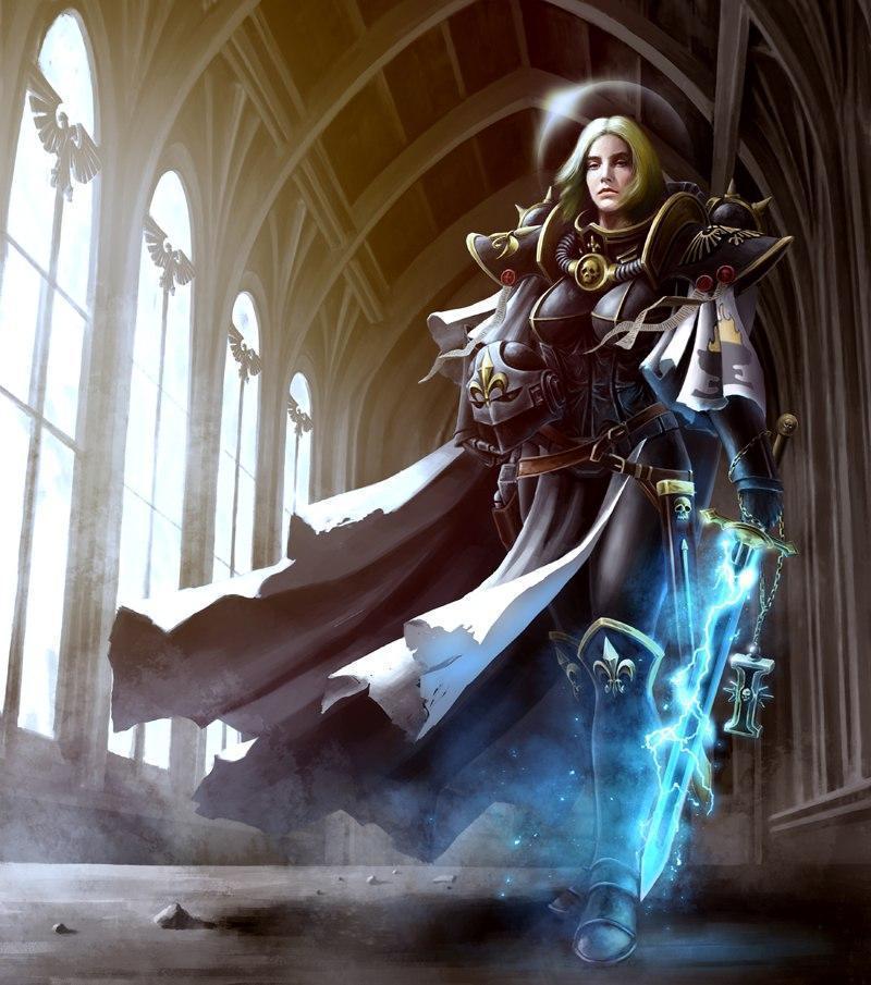Красивые картинки Арт Девушка Warhammer 40K Сёстры битвы