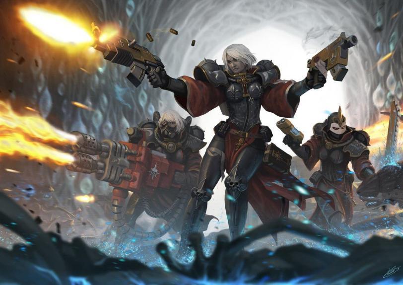 Красивые картинки Арт Девушка Warhammer 40K Сёстры битвы Пафос
