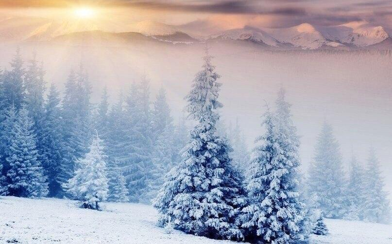 Красивые картинки Пейзаж Зима