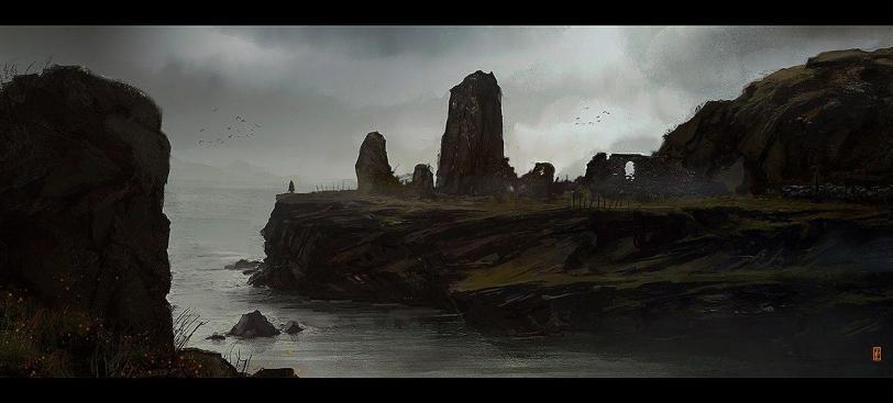 Живопись Пейзаж Мрачные картинки побережье