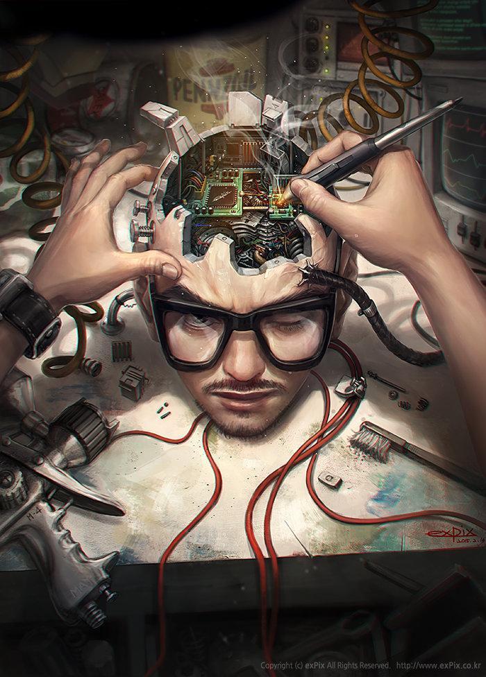 Арт Красивые картинки Киберпанк Cyberpunk