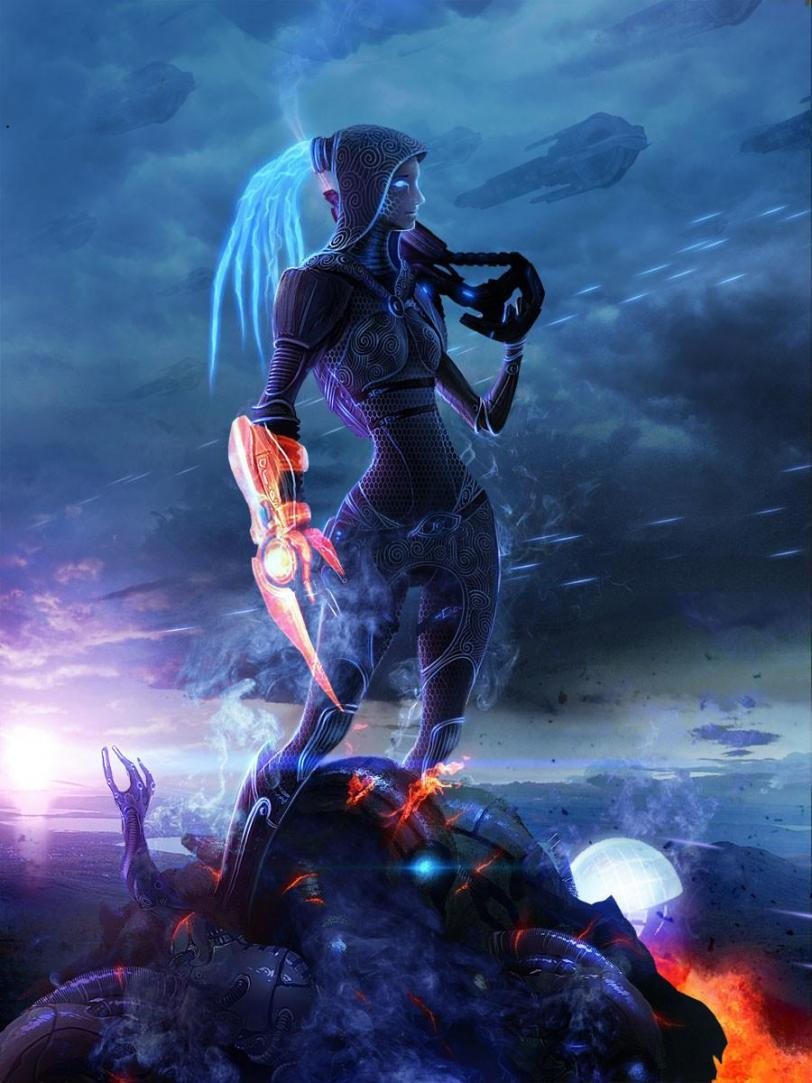 Арт Красивые картинки Sci-fi Mass Effect Quarian