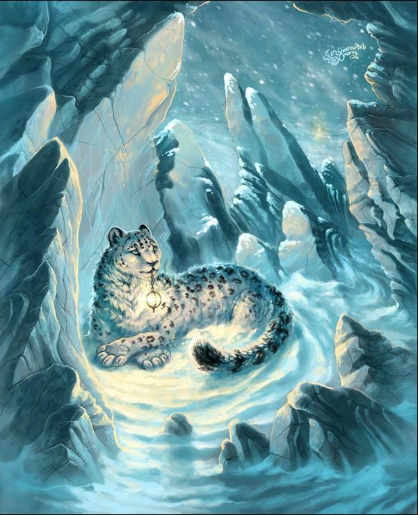 Арт Красивые картинки Живность снежный барс