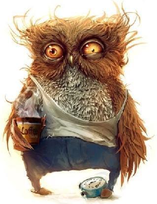 сова утро Правда жизни Милота Красивые картинки кофе