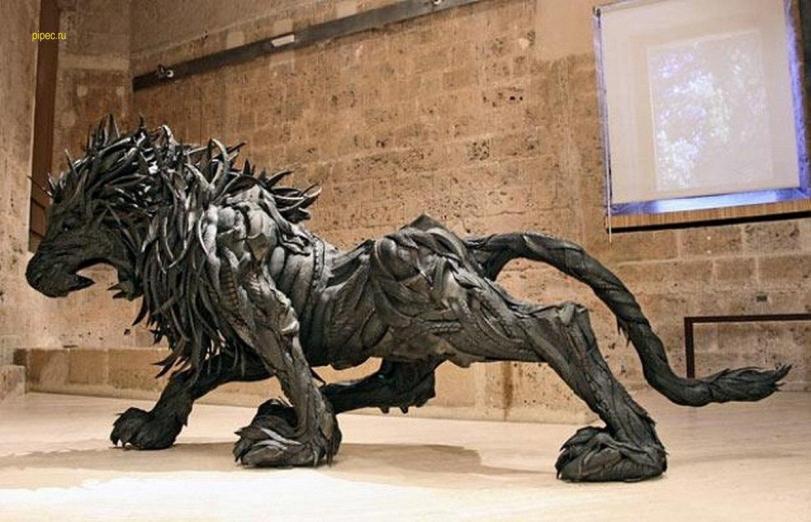 прямые руки скульптура покрышки