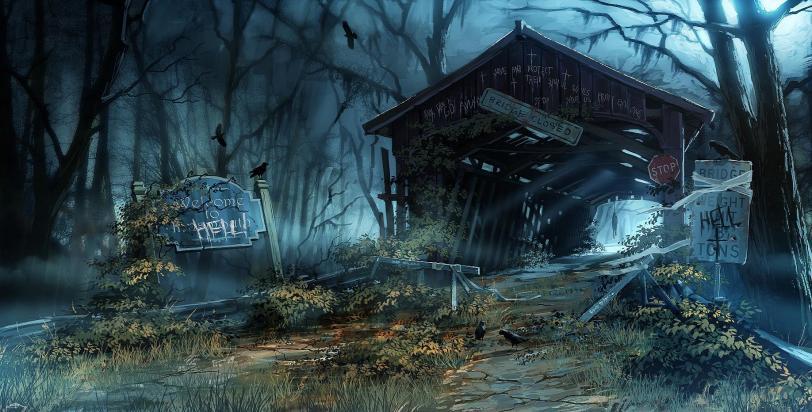 Арт Мрачные картинки хоррор Innsmouth H P Lovecraft Evgeniy Musienko