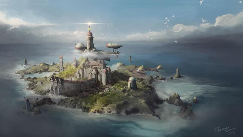 Franklin Chan Арт Красивые картинки Фэнтези замок