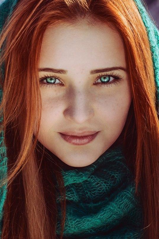Красивые картинки Фото Девушка няша Красивое лицо рыжая