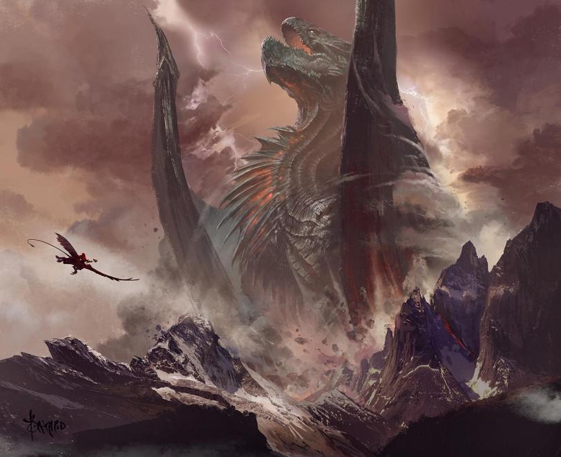 Арт Красивые картинки Фэнтези дракон