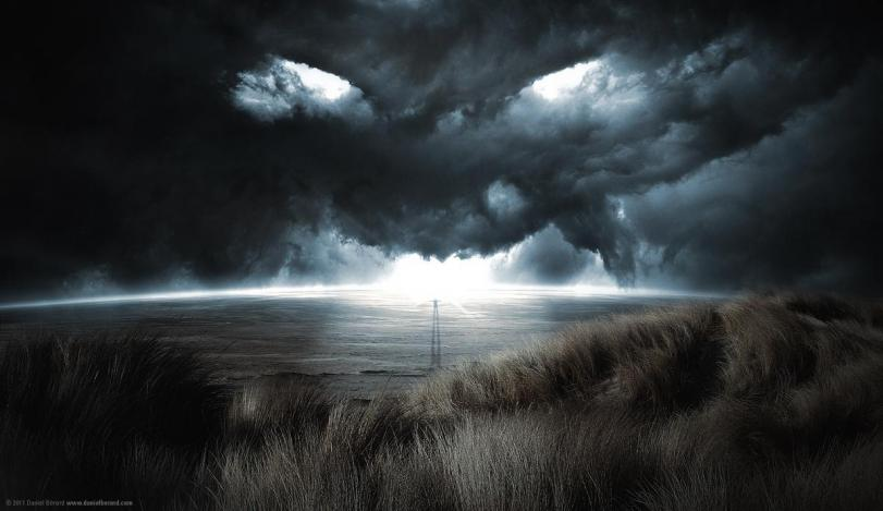 Арт Мрачные картинки шторм