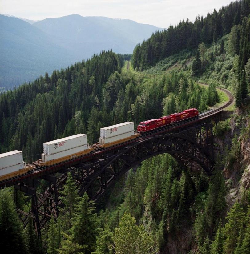 Фото Красивые картинки Природа Канада Тихоокеанская железная дорога