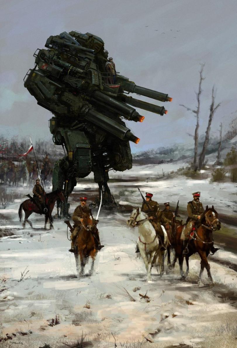 Арт Красивые картинки Scifi дизельпанк Jakub Rozalski