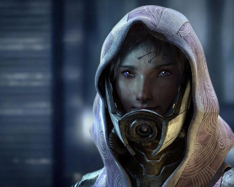 Арт Красивые картинки концептарт Scifi Mass Effect Tali