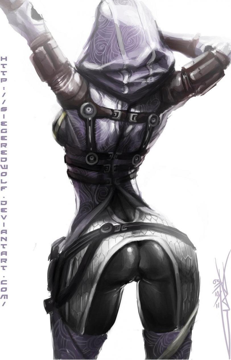 Арт Красивые картинки Scifi Mass Effect Tali