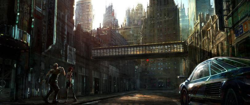 Арт Мрачные картинки Scifi Cyberpunk Tim Warnock Киберпанк Постапокалипсис
