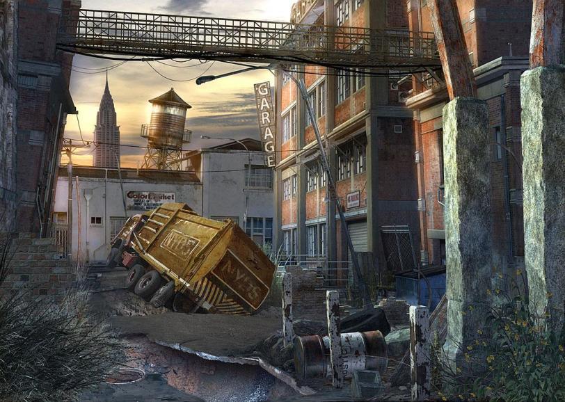 Арт Мрачные картинки Постапокалипсис Fallout кликабельно