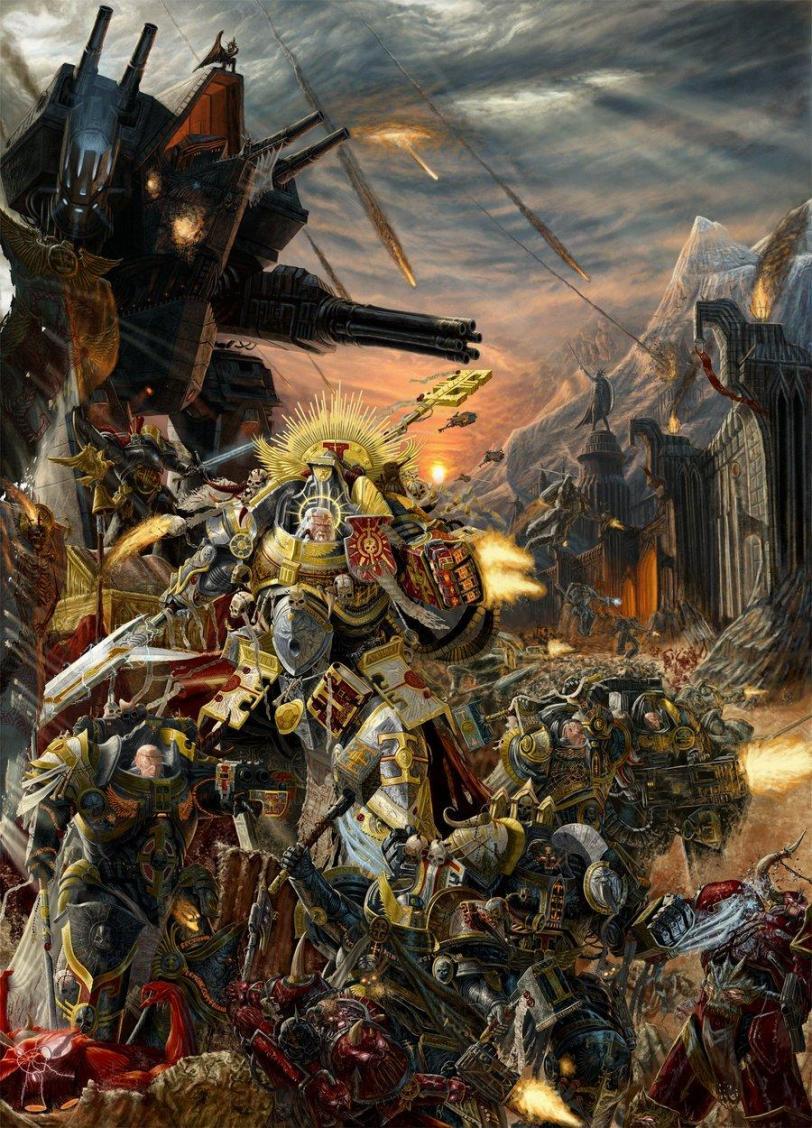 Арт Красивые картинки Warhammer 40K Империя пафос и превозмогание