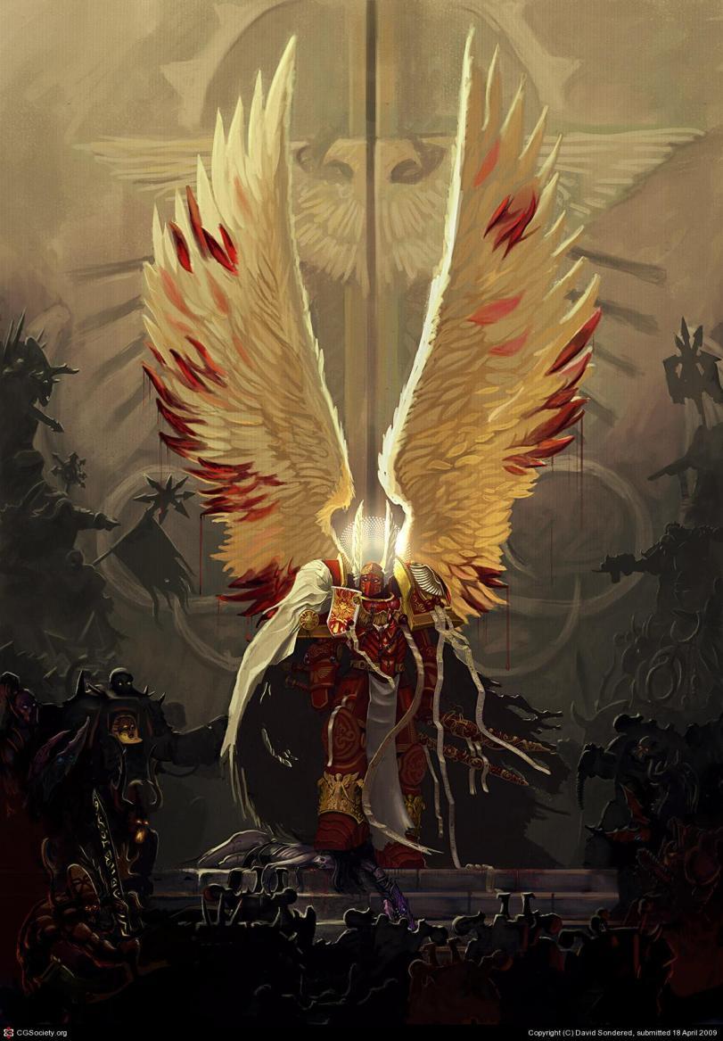 Warhammer 40K Blood Angels Арт Красивые картинки