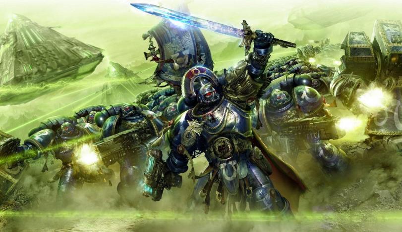 Арт Warhammer 40K Ultramarines Империя некроны монолит песочница