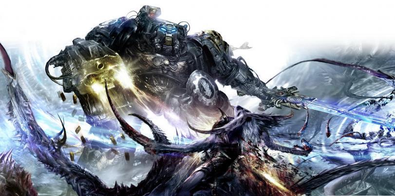Арт Warhammer 40K Терминатор Iron Hands песочница