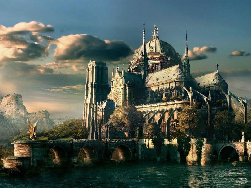 Арт Красивые картинки монастырь песочница
