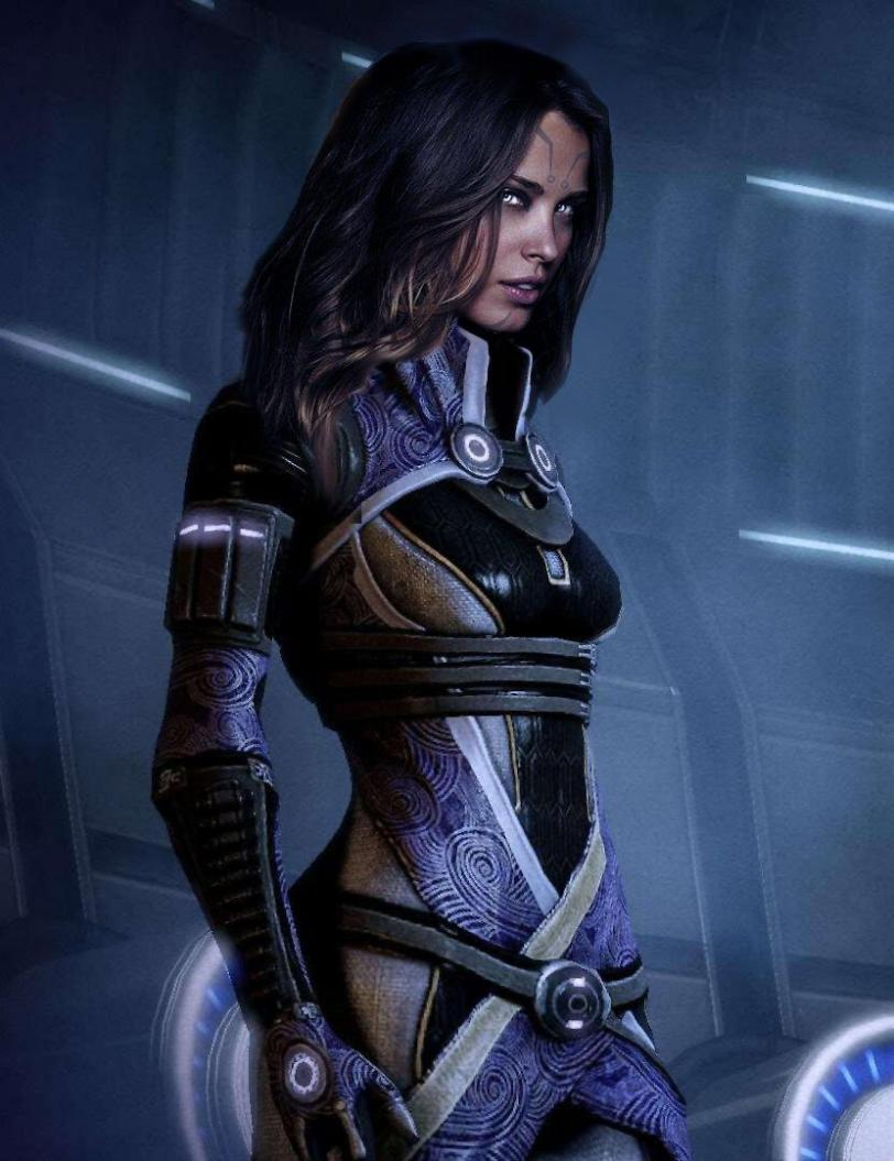 Арт Красивые картинки Scifi Mass Effect Tali песочница