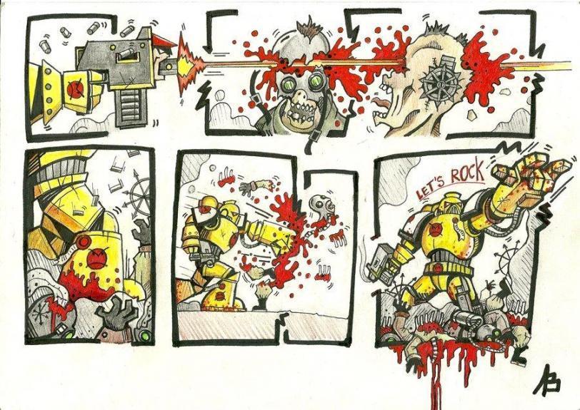 Warhammer 40K Комикс приколы Angry Marines злобномарины