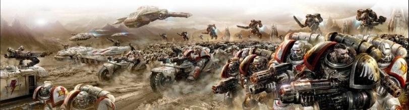 Арт Warhammer 40K White Scars пафос и превозмогание кликабельно песочница
