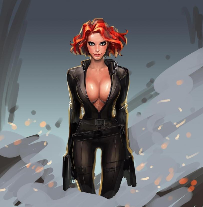 Арт Красивые картинки Девушка кликабельно Marvel SHIELD Black Widow