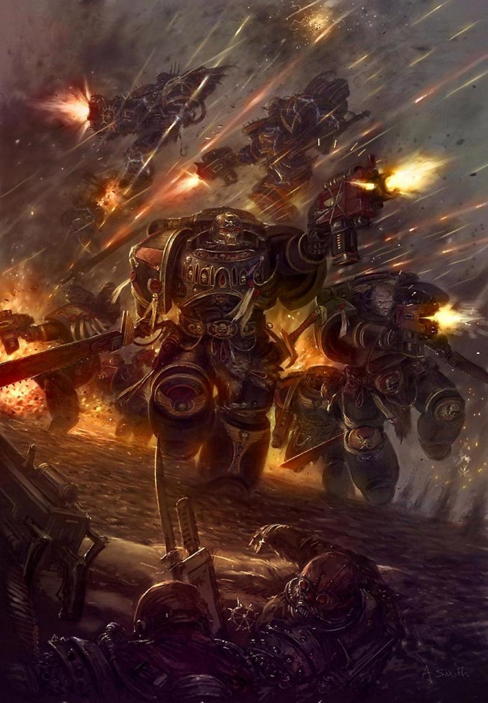 Арт Warhammer 40K Chaos Империя пафос и превозмогание