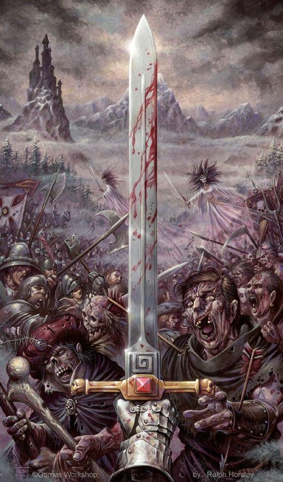 Арт Warhammer Fantasy Фэнтези undead песочница